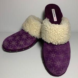 Isaac Mizrahi Live! Purple Pumps w/ Fur Lining